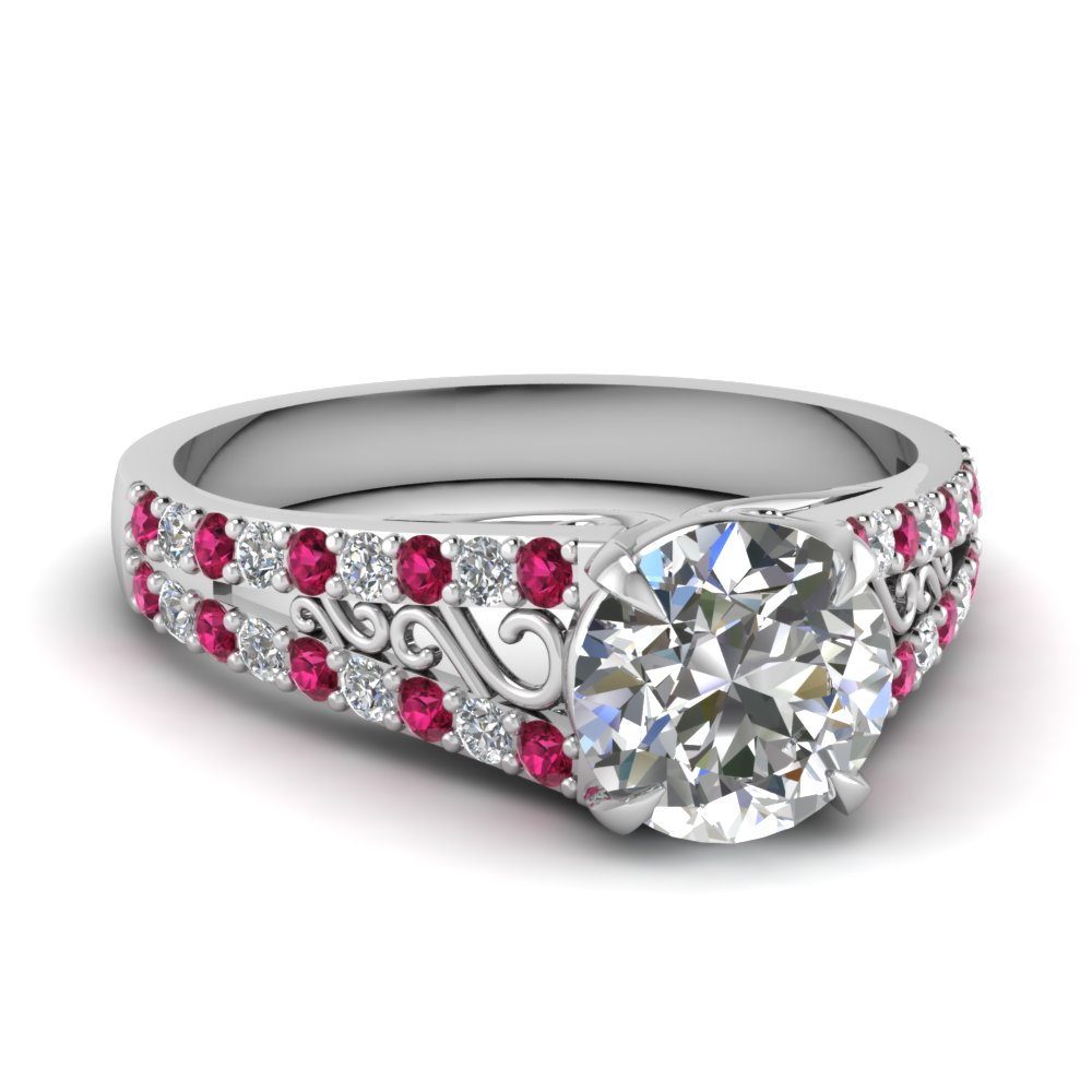 white-gold-round-white-diamond-engagement-wedding-ring-with-dark-pink-sapphire-in-prong-set-FD1040RORGSADRPI-NL-WG