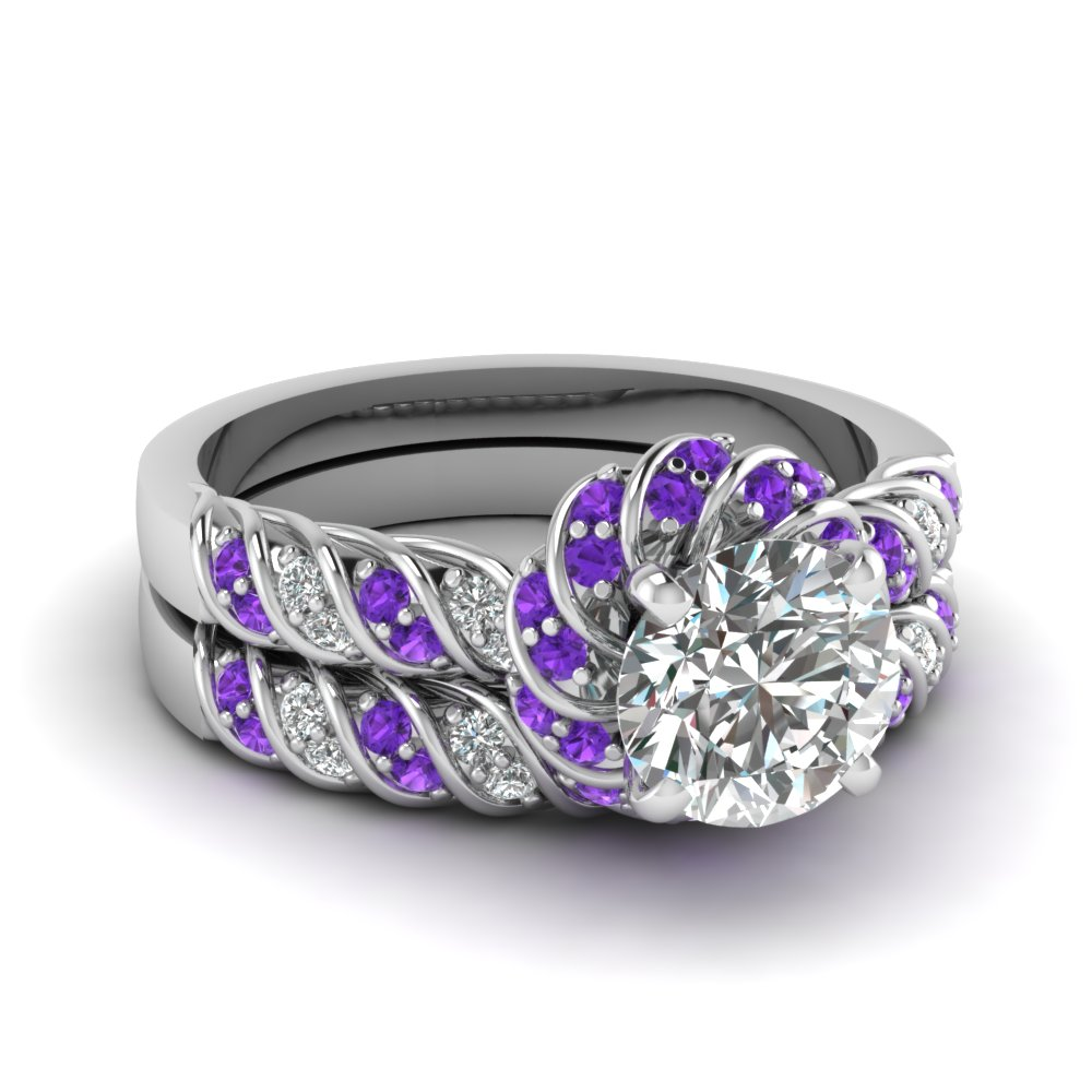 on decoration heart stock image the purple photo wedding rings