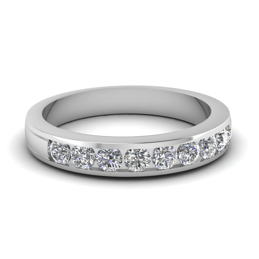 Womens Wedding Bands Diamond In White Gold