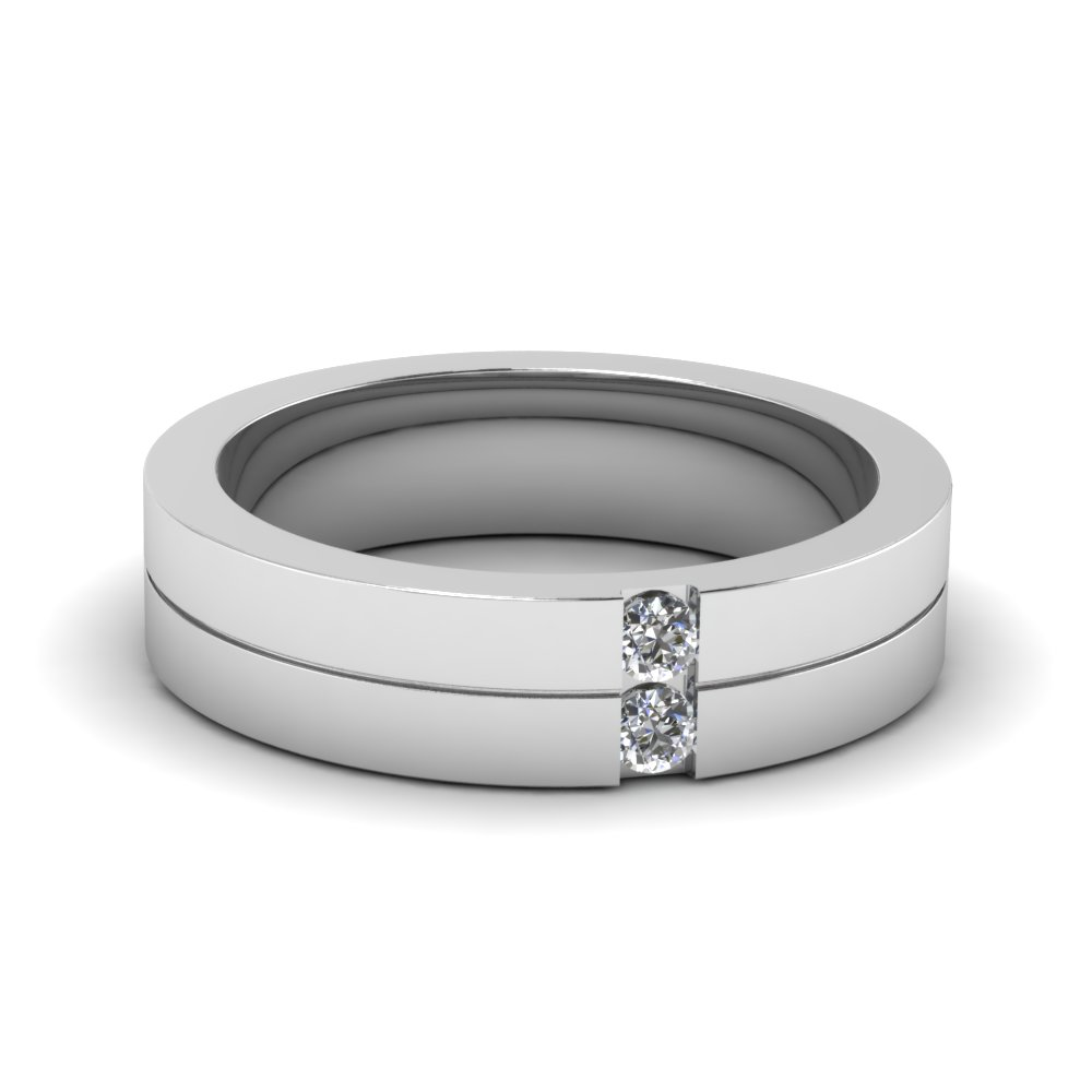 Diamond And White Gold Rings For Men
