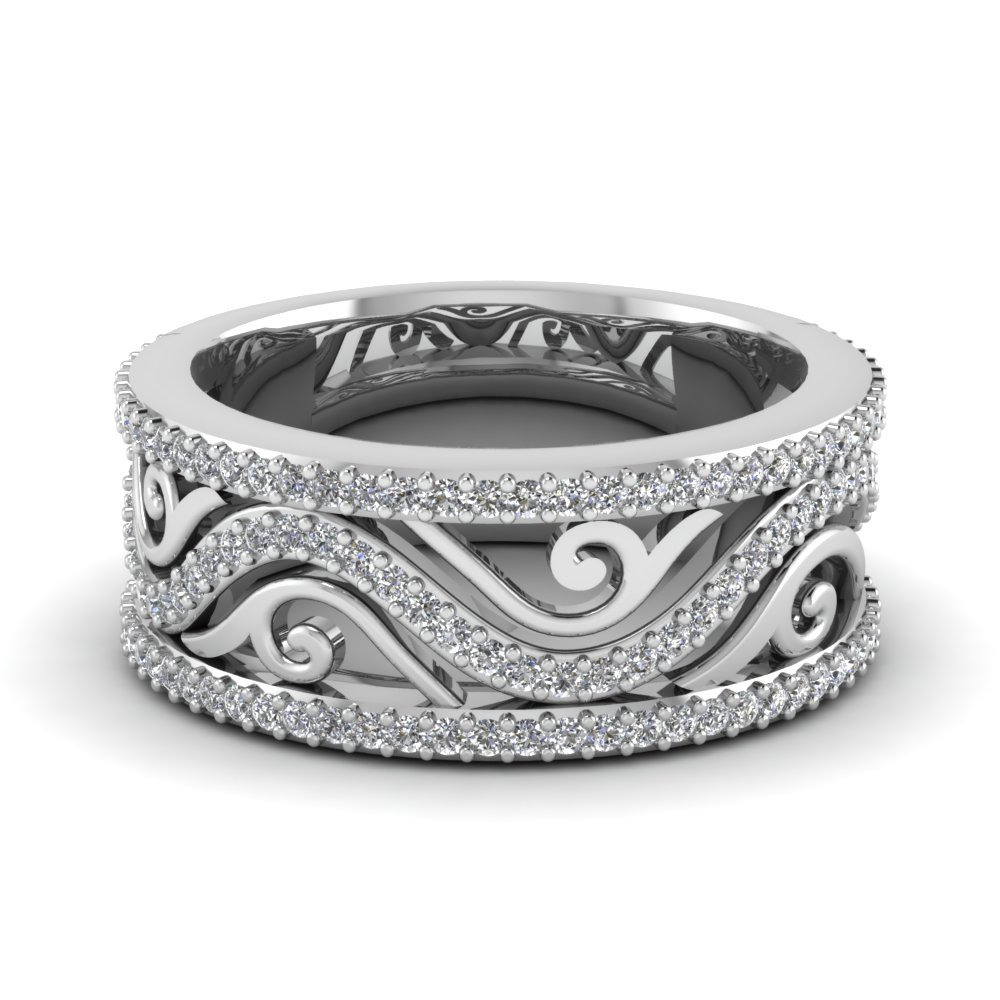 Antique Wedding Bands Fascinating Diamonds