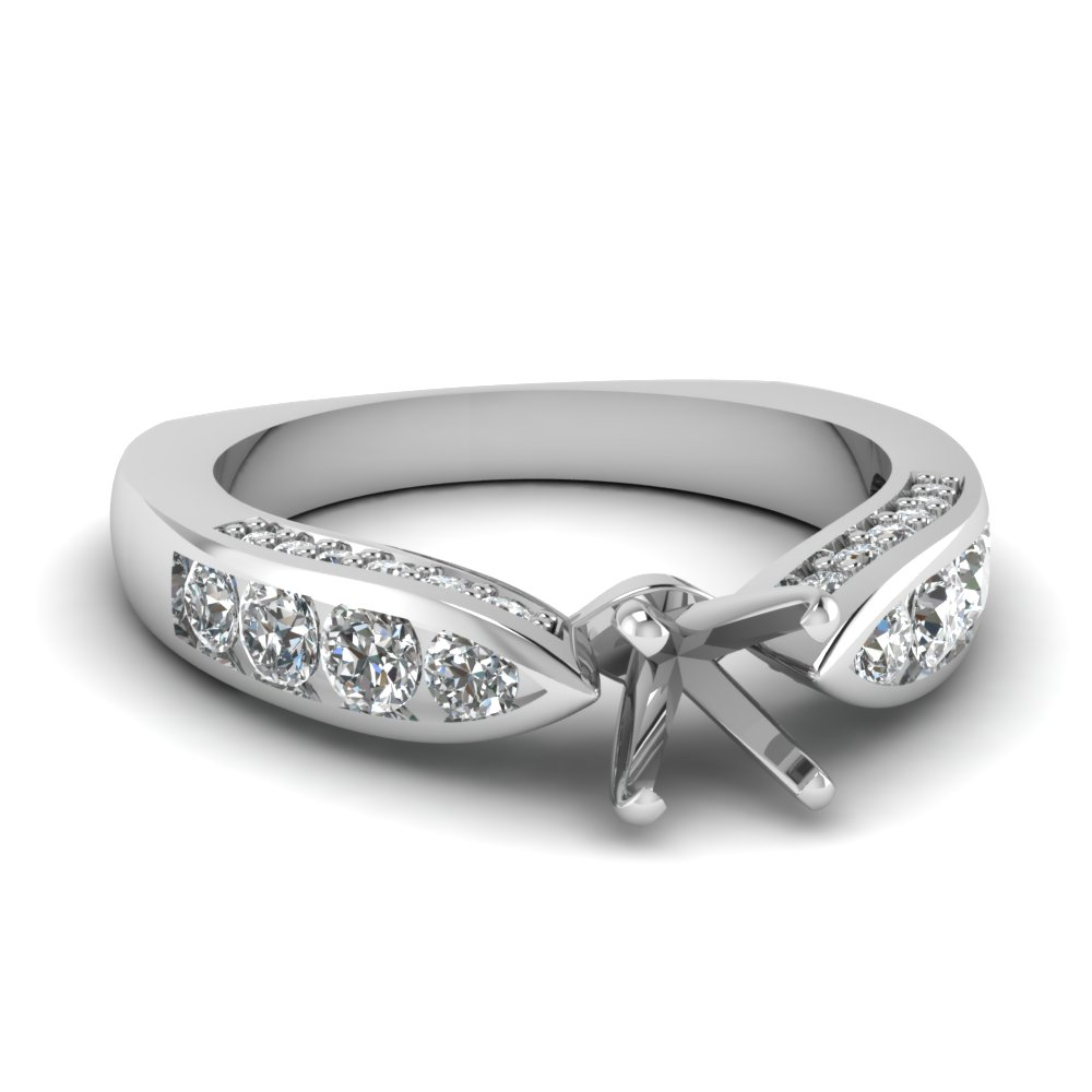 Engagement Ring Settings With Side Stones