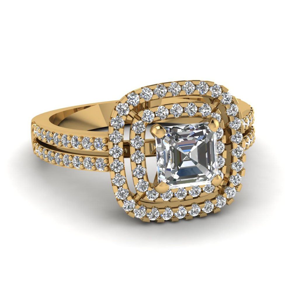 square halo engagement ring fascinating diamonds