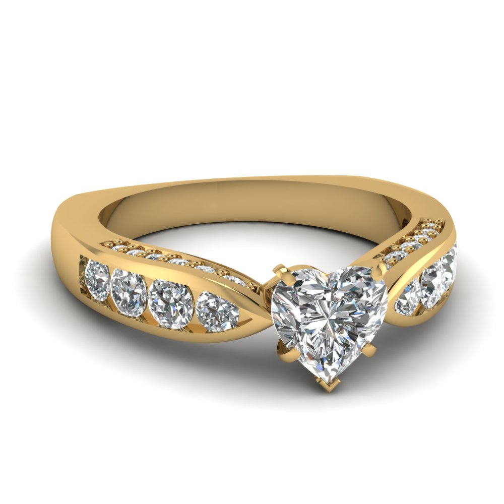 Certified Heart Shaped Engagement Ring