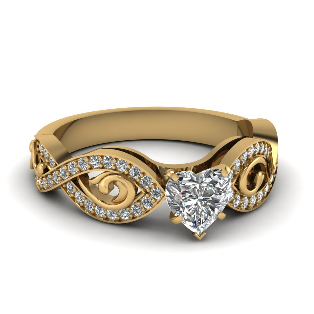 Prong Set Heart Diamond Ring