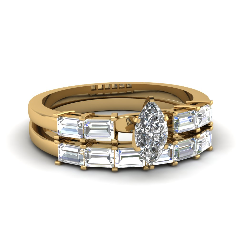 Channel Set Baguette Wedding Ring Fascinating Diamonds