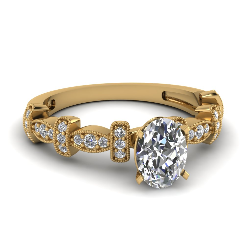 0.50 Karat Oval Shaped Engagement Rings
