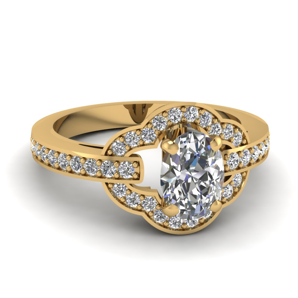 Pave Bloom Diamond Petite Engagement Ring