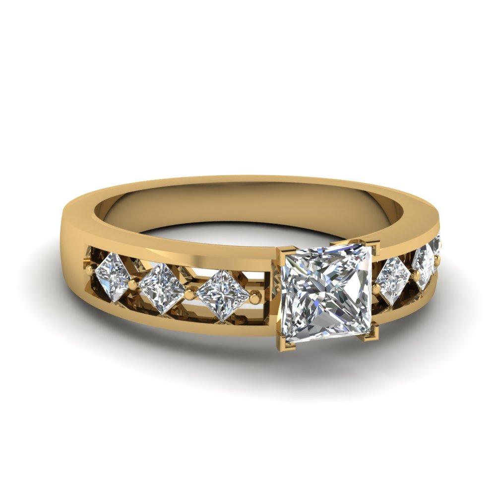 Princess Cut Cheap Diamond Ring