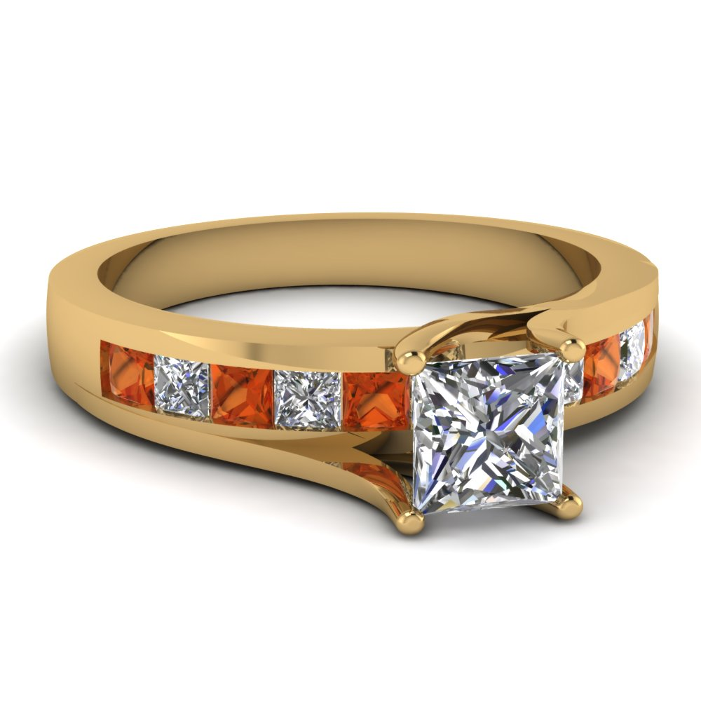 Princess Cut Modern Diamond Rings