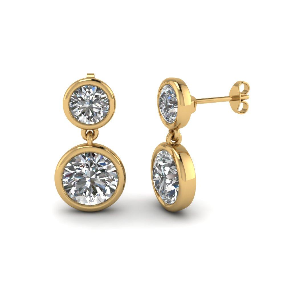 yellow-gold-round-white-diamond-drop-earrings-in-bezel-set-FDEAR1082-NL-YG