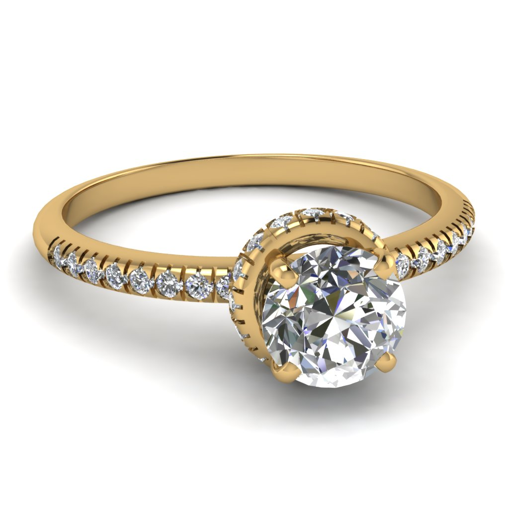 Yellow Gold Round Delicate Ring
