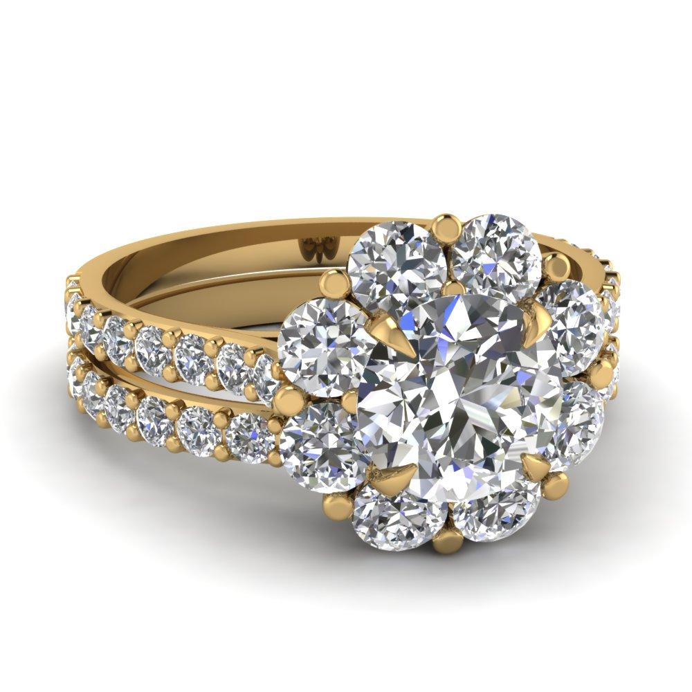 blossom halo set fascinating diamonds