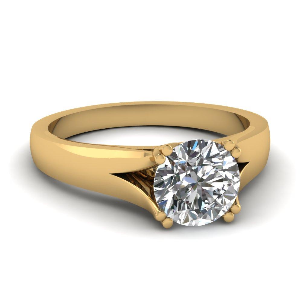 4 Prong Diamond Wedding Ring Settings