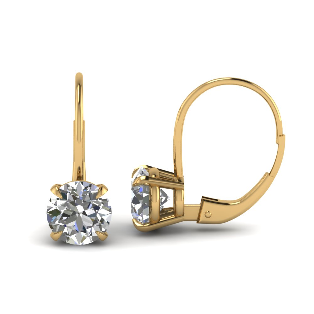 yellow-gold-round-white-diamond-hoops-earrings-in-prong-set-FDEAR61053-NL-YG