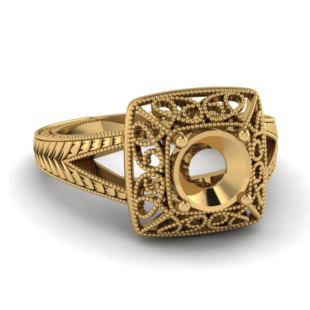 Karat Gold Ring Settings